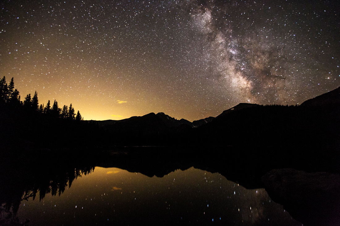 Milky Way and Sky Glow Over Bear Lake