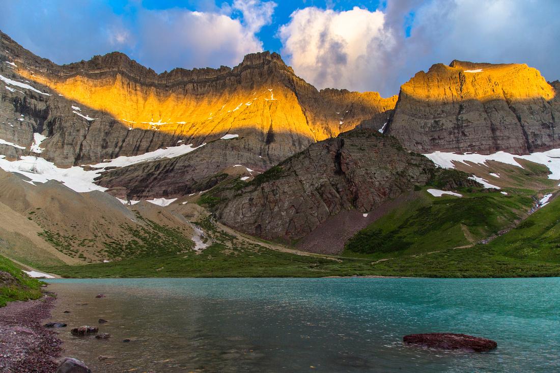 Cracker Lake at Sunrise (3)