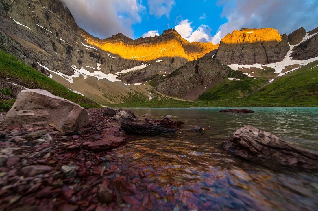 Cracker Lake at Sunrise (2)
