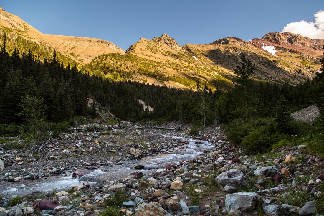 Canyon Creek Below Cracker Lake