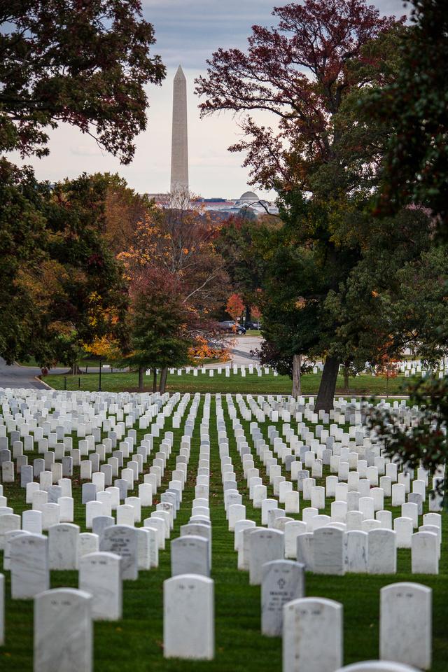 Washington Monument seen From Arlington National Cemetery