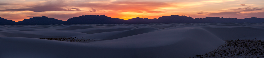 Red Sunset at White Sands