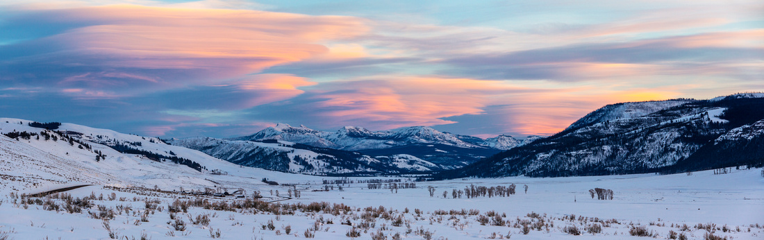 Sunset in Lamar Valley