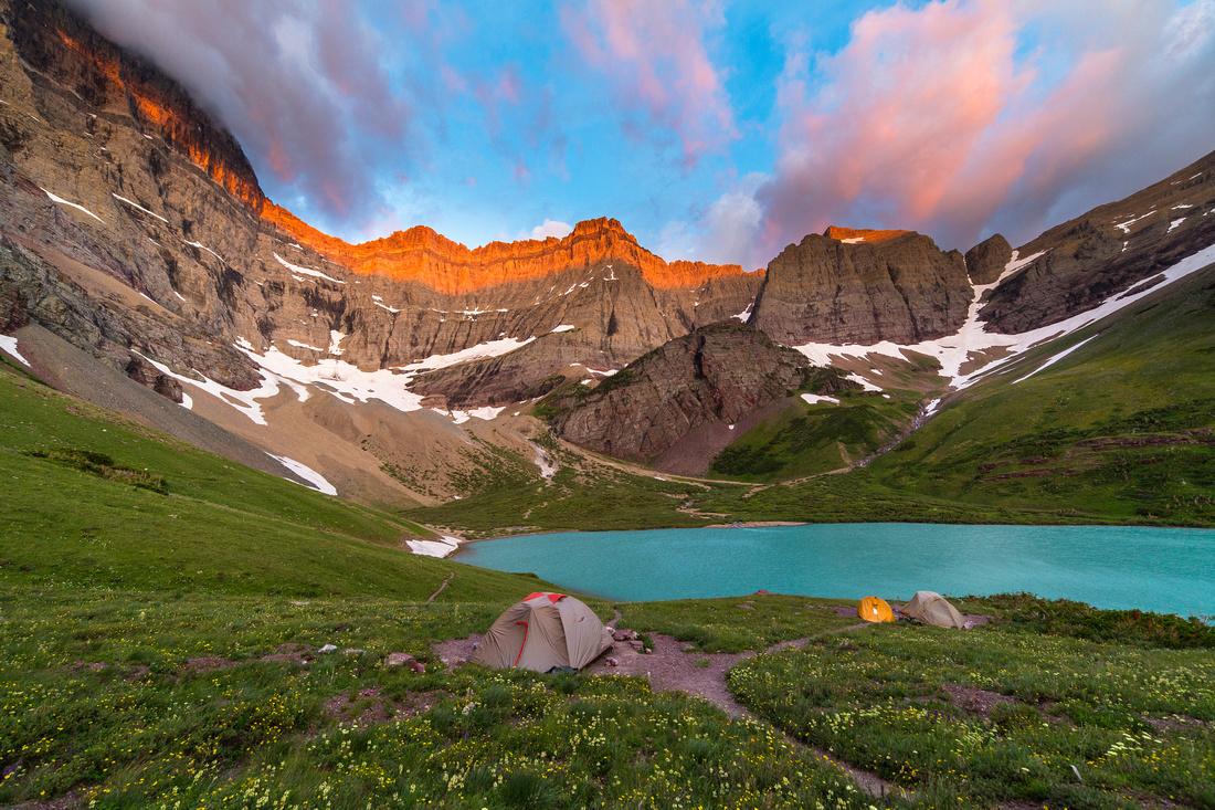 Cracker Lake Campground Sunrise