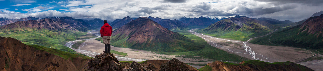 Self-portrait Hiking in Denali - Jacob W. Frank