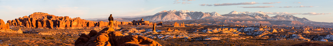 Arches Hiker Super Panorama