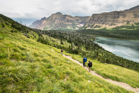 Hikers Going Towards Oldman Lake (4)