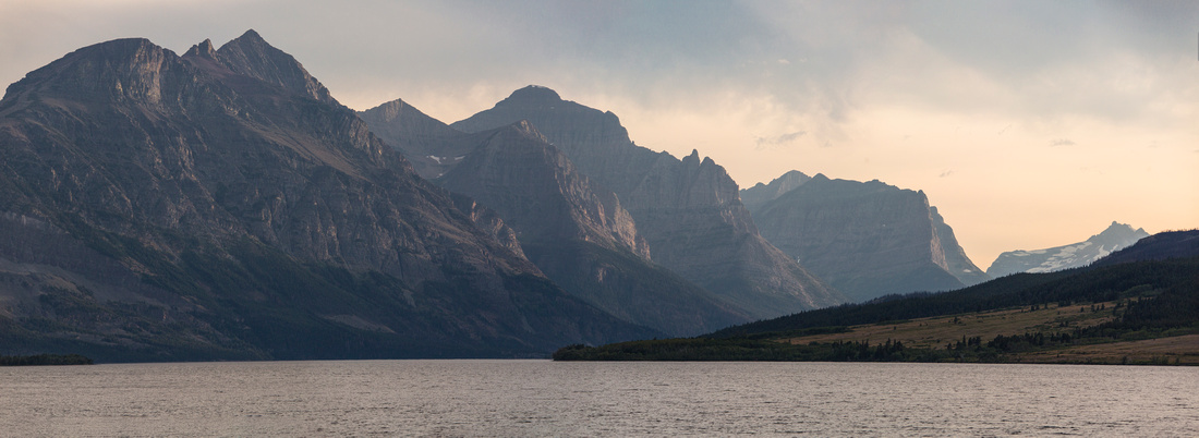 Saint Mary Lake Sunset Panorama 8.13.16