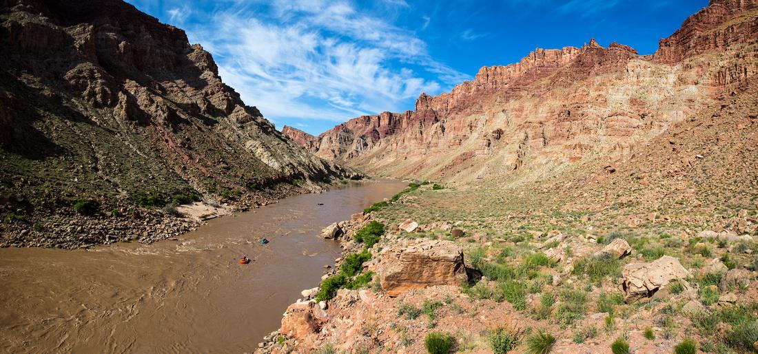 Floating the Colorado through Cataract Canyon