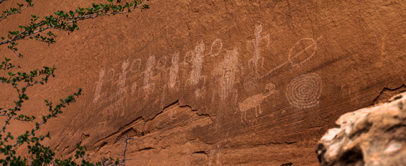Jacob w frank photography natural bridges national monument pictographs and petroglyphs framed publicscrutiny Gallery
