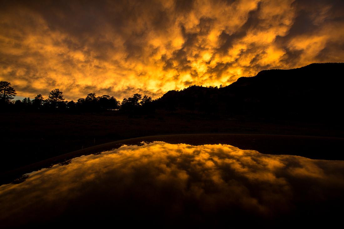 Sunset over Deer Mountain