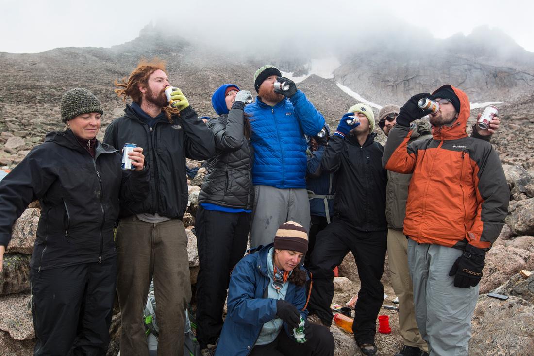Camp Beers at 12.7K ft