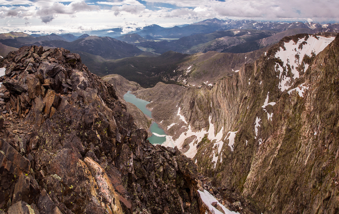 Spectacle Lakes from Yspilon Summit Ridge