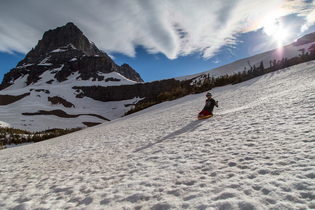 Sledding Mount Oberlin Saddle