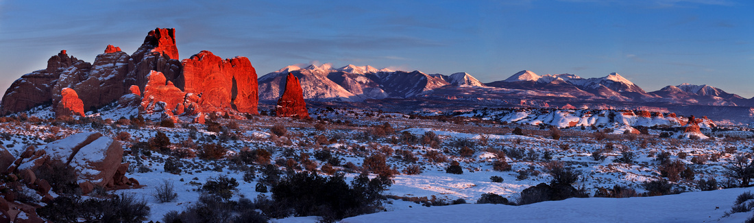 Alpenglow on the La Sal Mountains