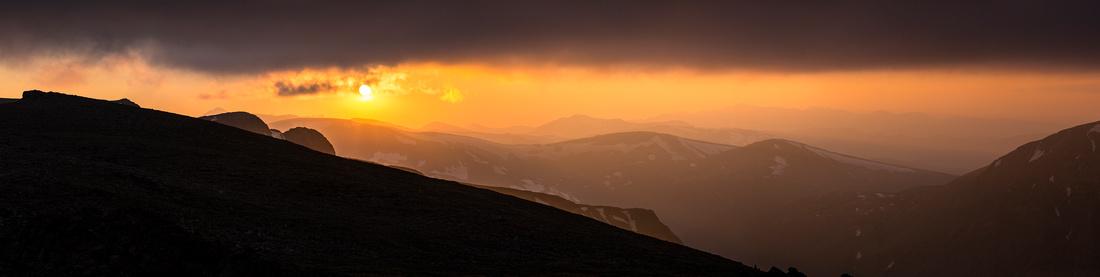 Hazy Sunset Panorama