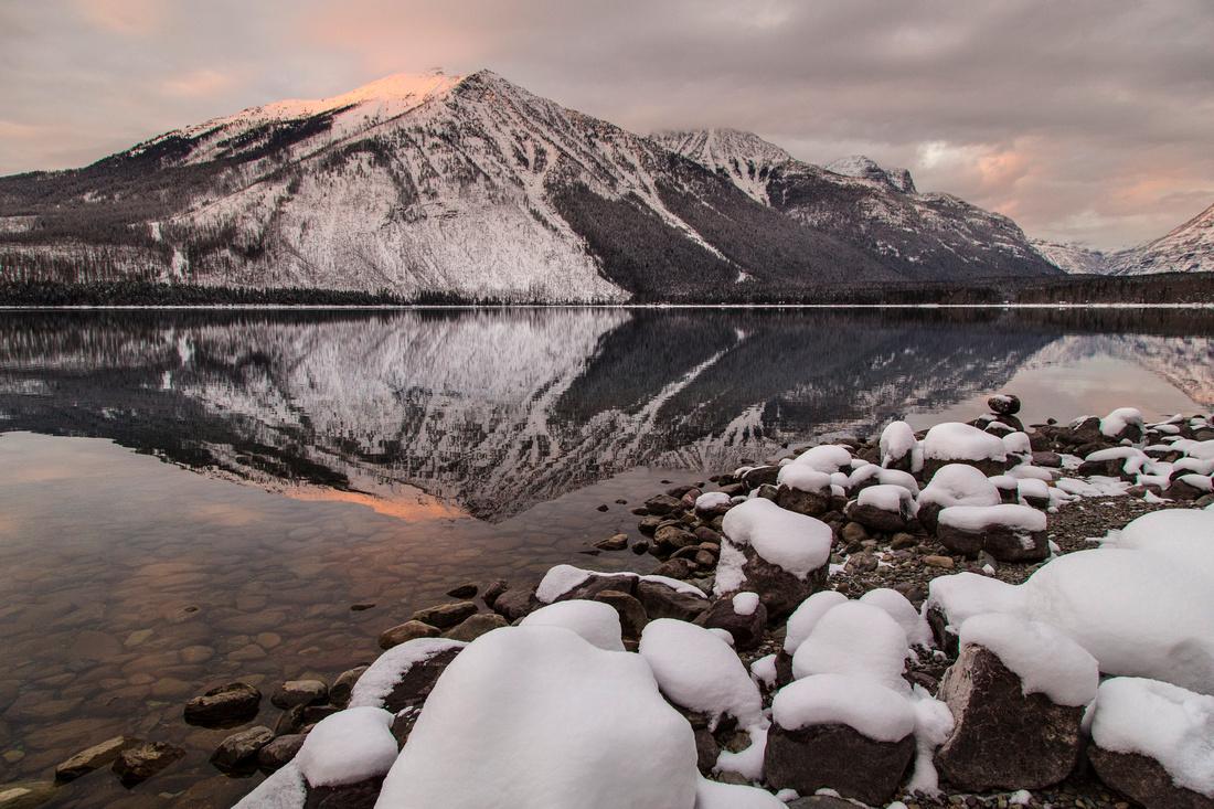 Lake McDonald Lodge Sunset