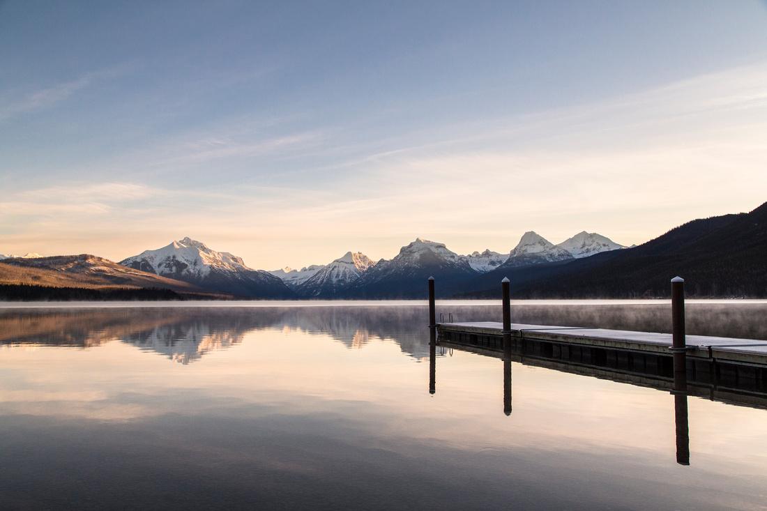 Lake McDonald Public Dock Sunrise 3.19.16 (2)
