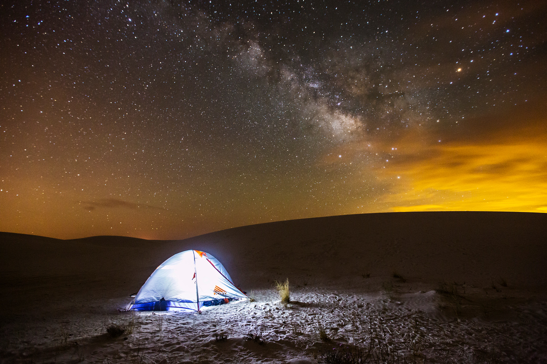 Camping under the Milky Way