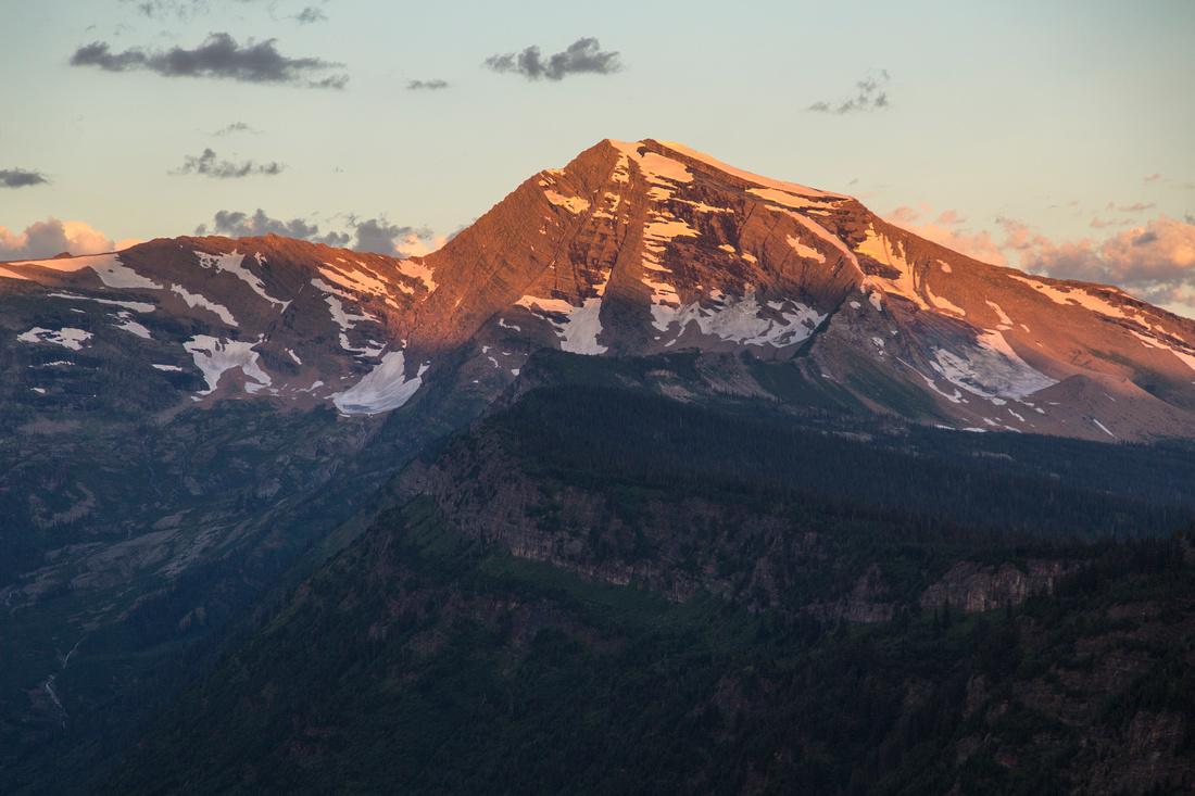 First Light on Heavens Peak 7.30.16