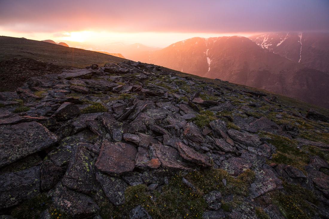 Hazy Sunset From Sundance Mountain