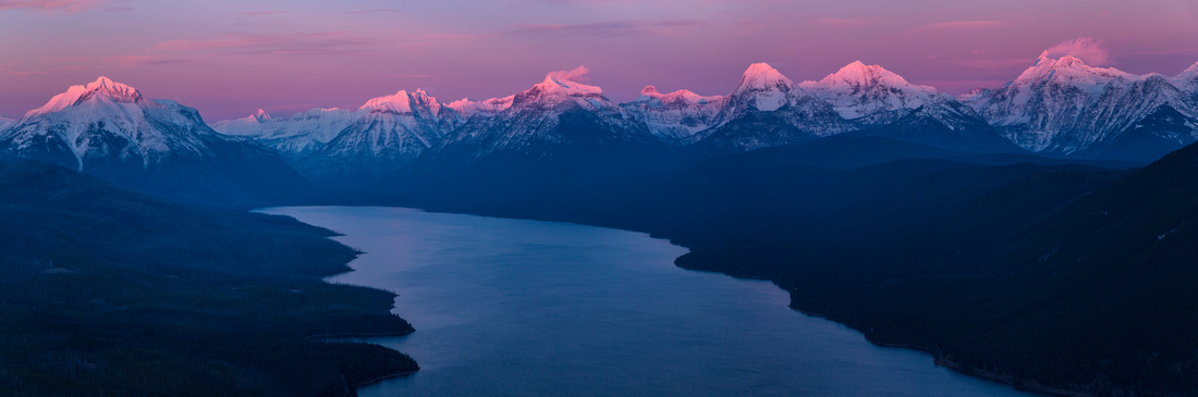 Alpenglow Over Lake McDonald Valley