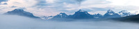 Foggy Lake McDonald Panorama