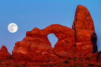 Super Moon and Turret Arch
