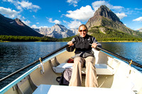 Rowing on Swiftcurrent Lake (2)