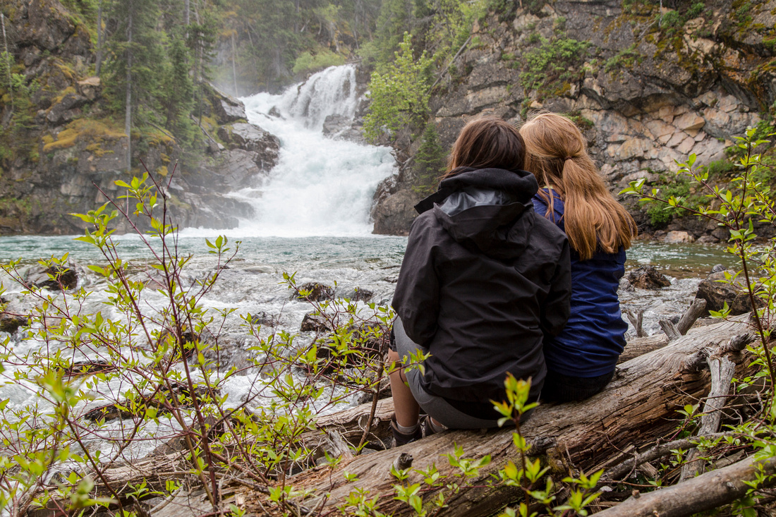 Mariah and Emily at Gros Ventre Falls