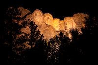 Mount Rushmore Throught the Trees