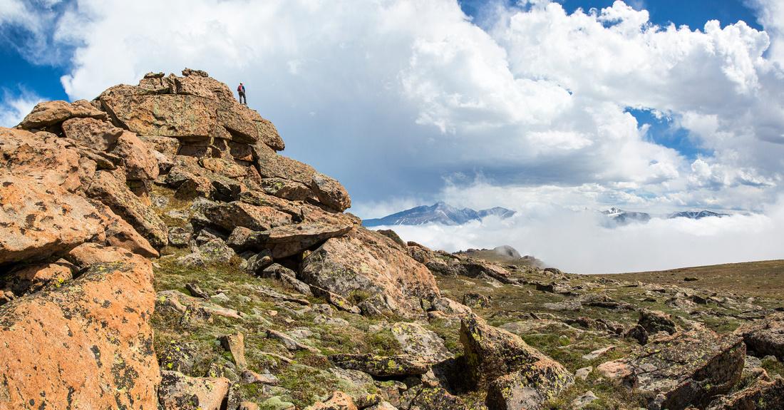Ute Trail Hiker in the Apline