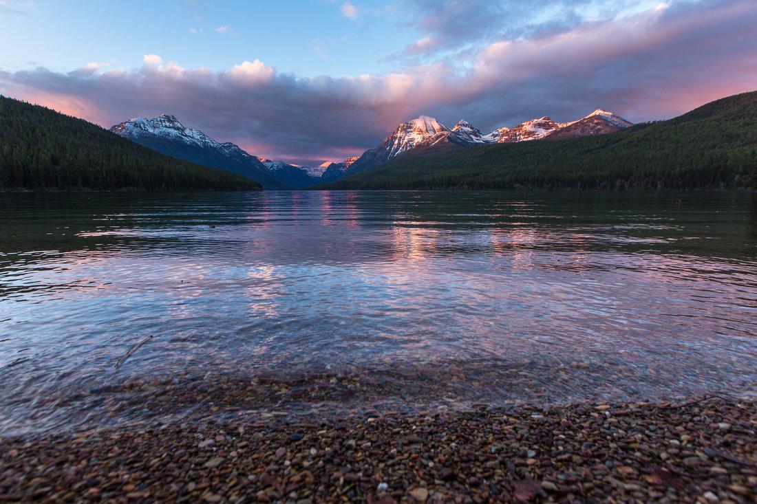Alpenglow at Bowman Lake (3)