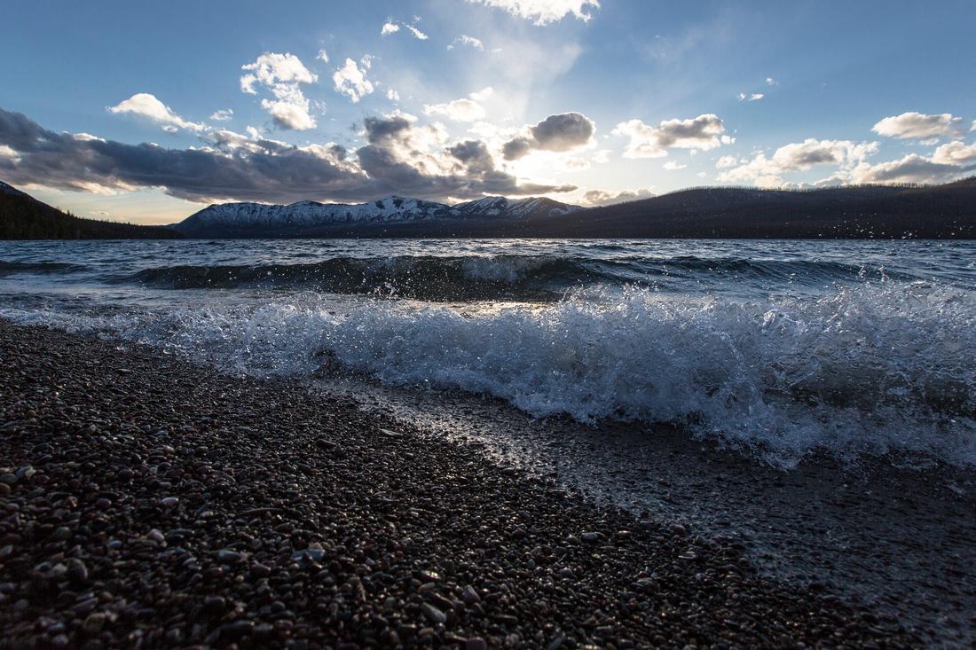 Crashing Waves on Lake McDonald