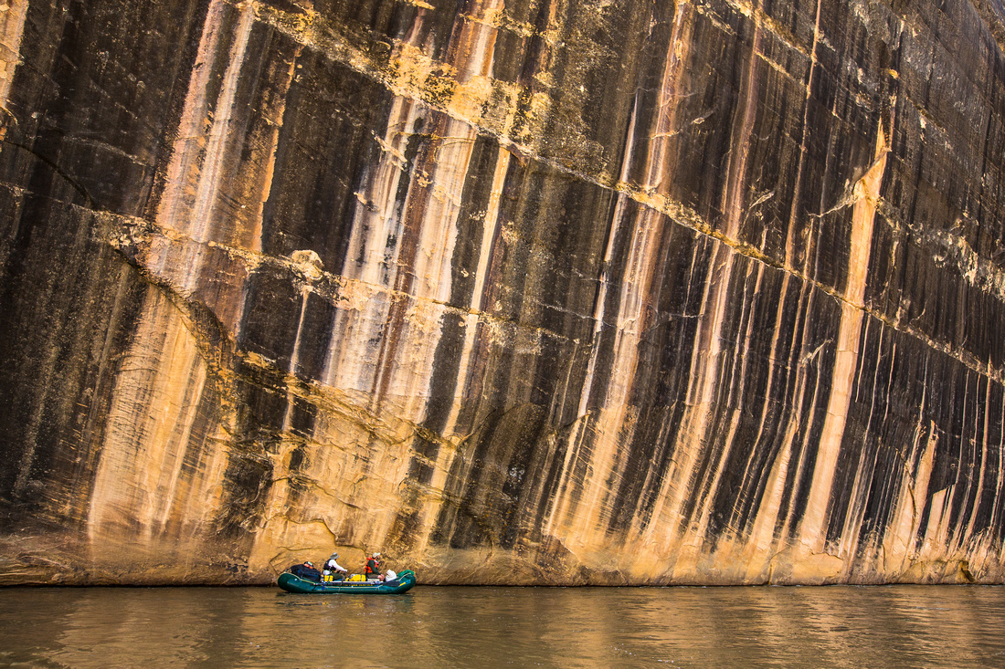 Rowing along the Tiger Wall