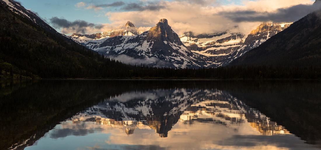 Cosley Lake Sunrise Panorama