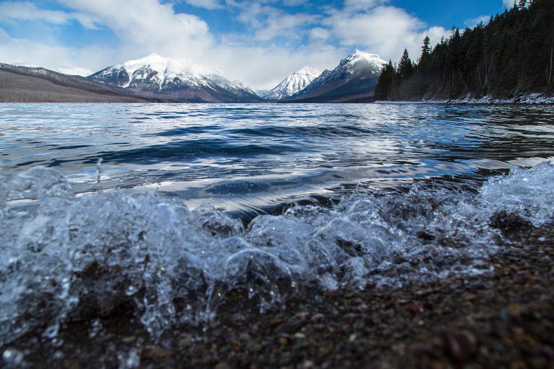 Crashing Waves on Lake McDonald 3.17.16