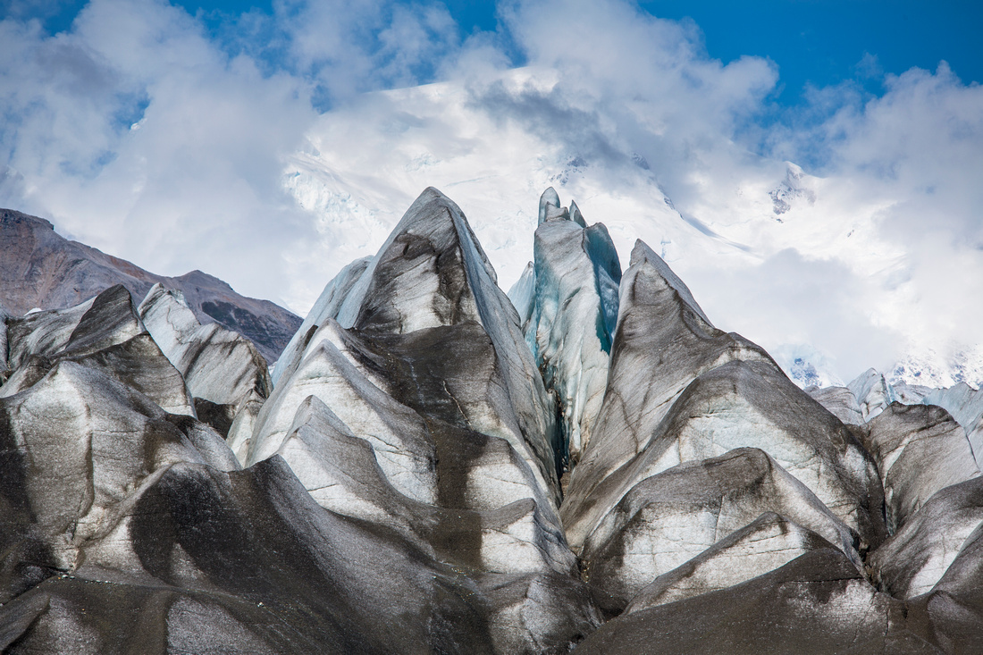 Kennicott Glacier Crevasses with Blackburn
