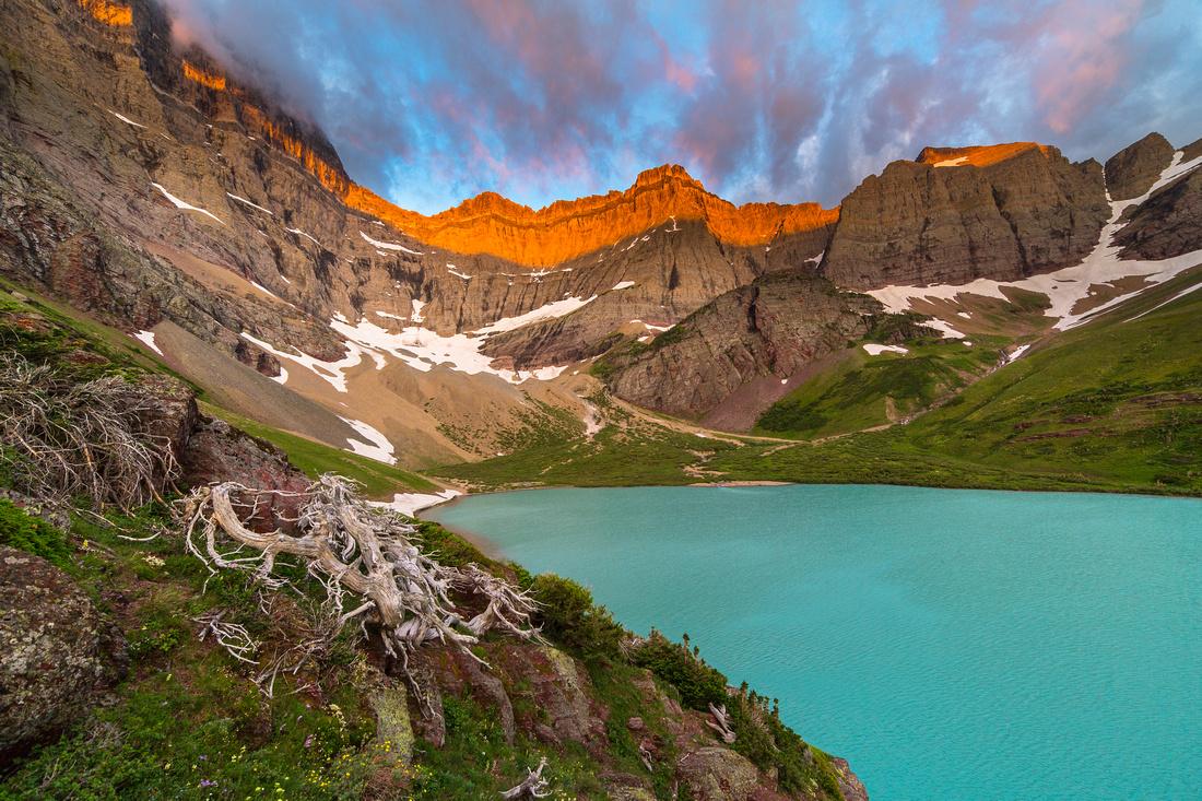 Cracker Lake at Sunrise