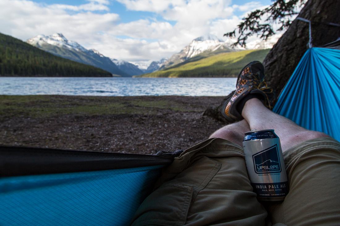 Chilling at Bowman Lake