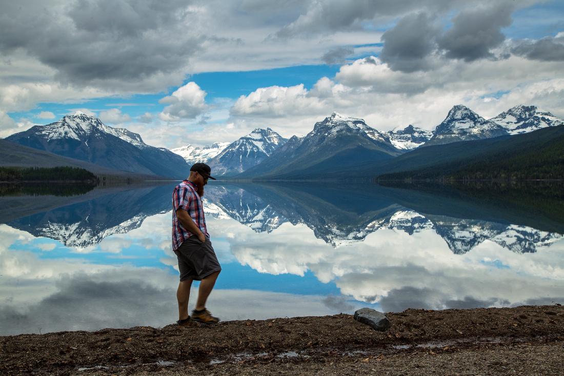 Self-portrait Lake McDonald 4.26.16